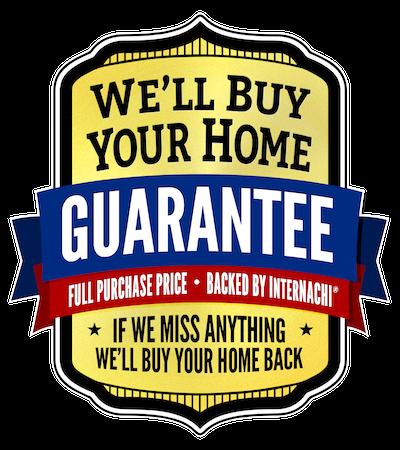 InterNACHI Buy Back Guarantee Logo: We'll Buy Your Home Guarantee